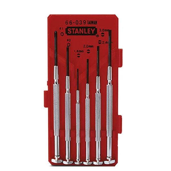 Bộ vít đồng hồ 6 cây (cán sắt) Stanley 66-039