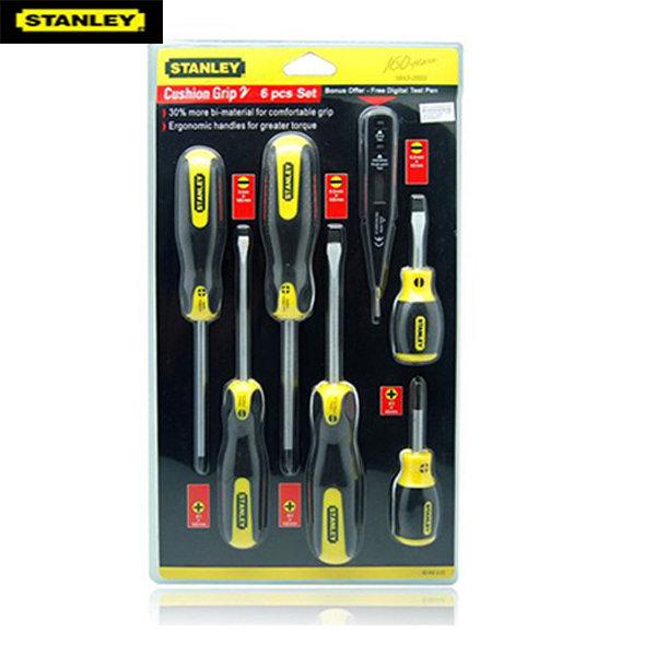 Bộ tô vít 6 cây có từ + bút thử điện điện tử Stanley 92-002
