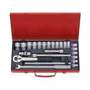 """Bộ khẩu hệ 1/2"""" 6 cạnh 24 chi tiết 10-32mm Kingtony 4526MR01"""