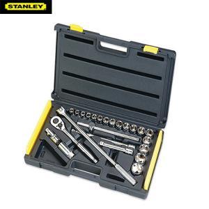 """Bộ khẩu hệ 1/2"""" 6 cạnh 25 chi tiết 10-32mm Stanley 86-589"""