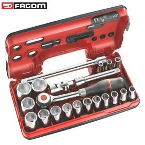 """Bộ khẩu hệ 1/2"""" 12 cạnh 20 chi tiết Facom S.360DBOX112"""